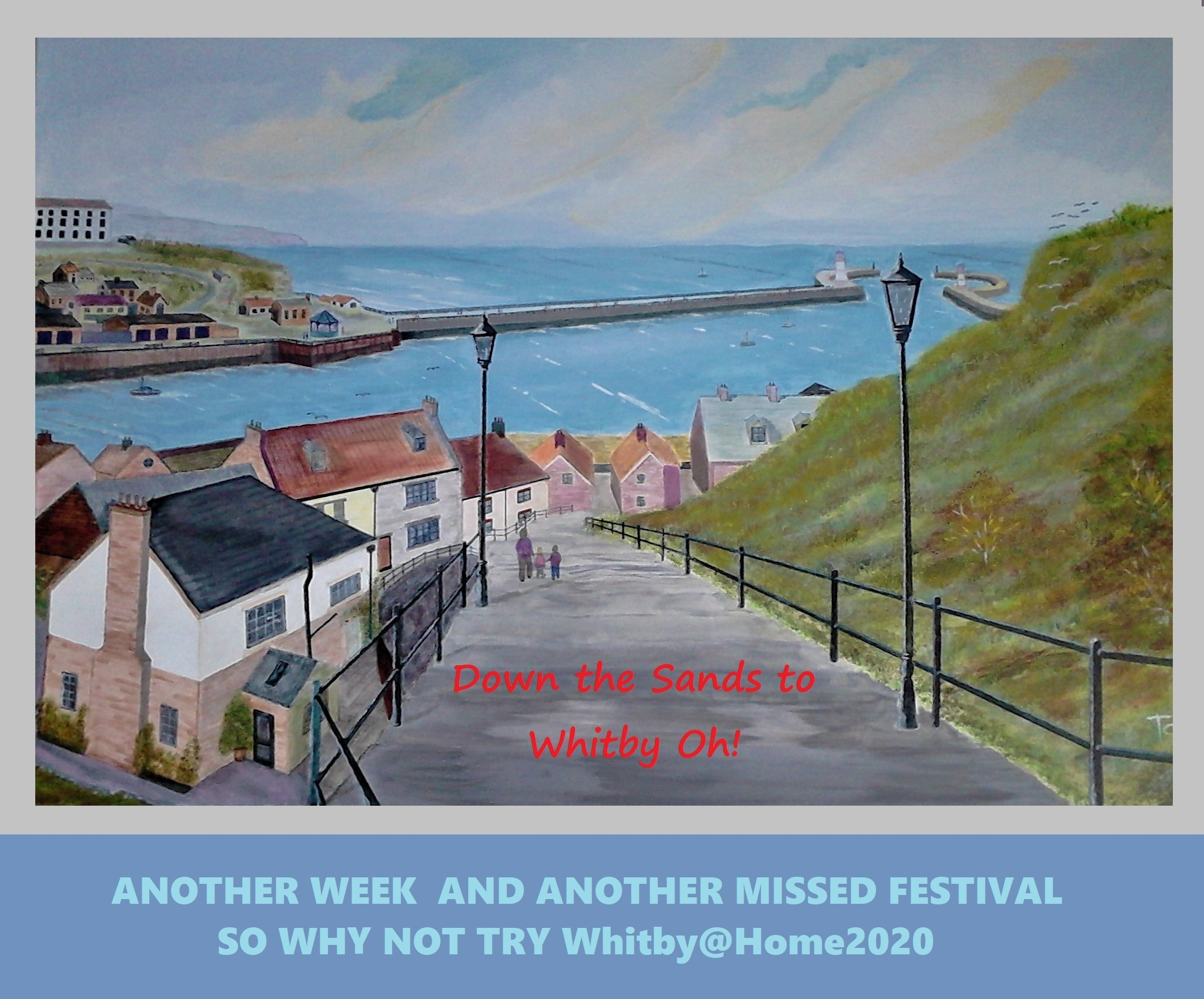Down The Sands To Whitby Oh! Painting by Tom Wilson