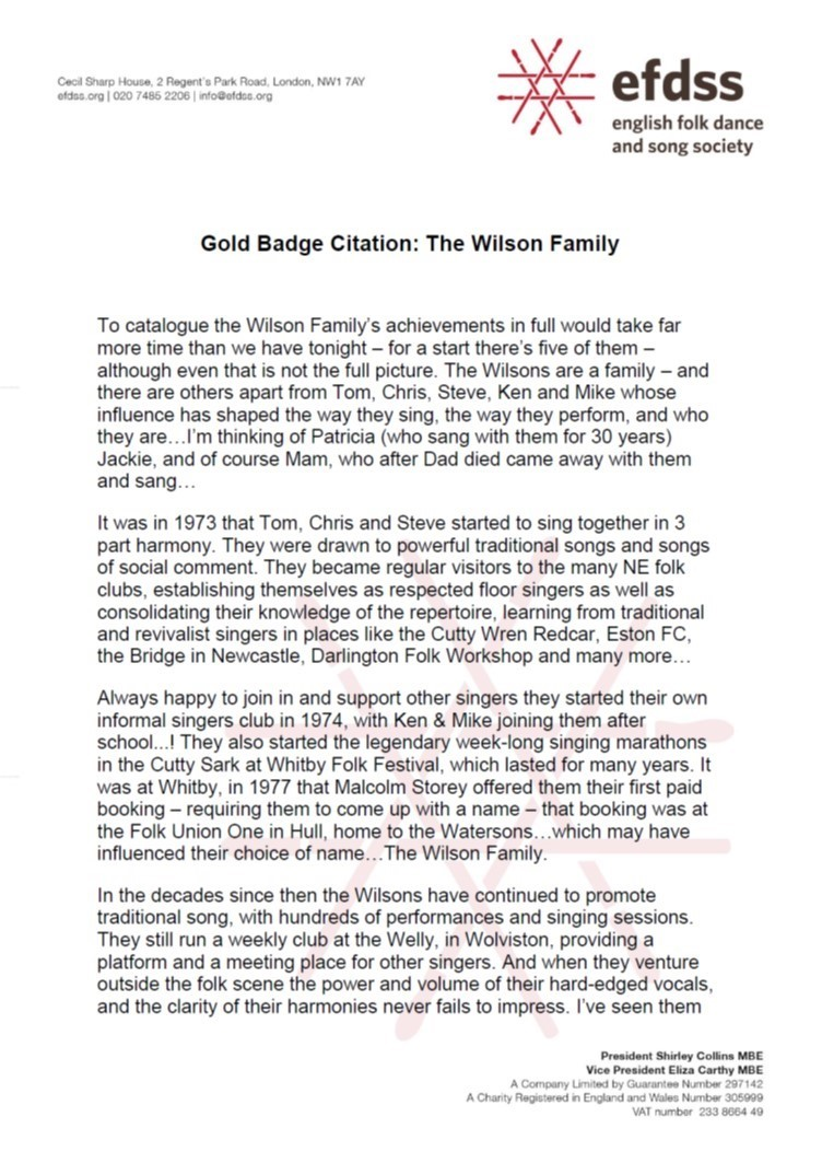 Welcome to the Official Wilson Family website..