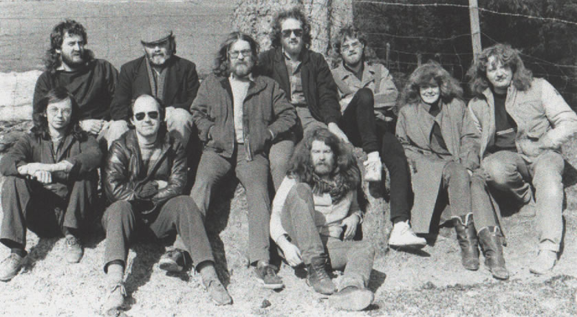 Farewell to our friend and mentor Joe Stead pictured back row 2nd from left during the recording of